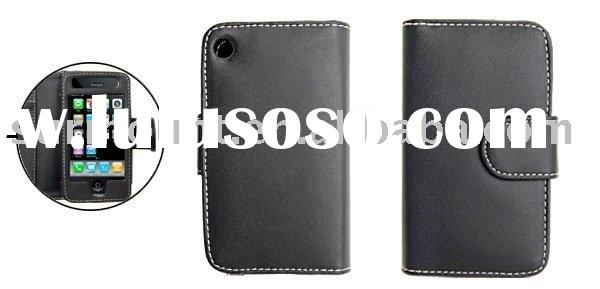 Wallet Style Leather Case with Credit Card Holder for Apple iPhone 3G