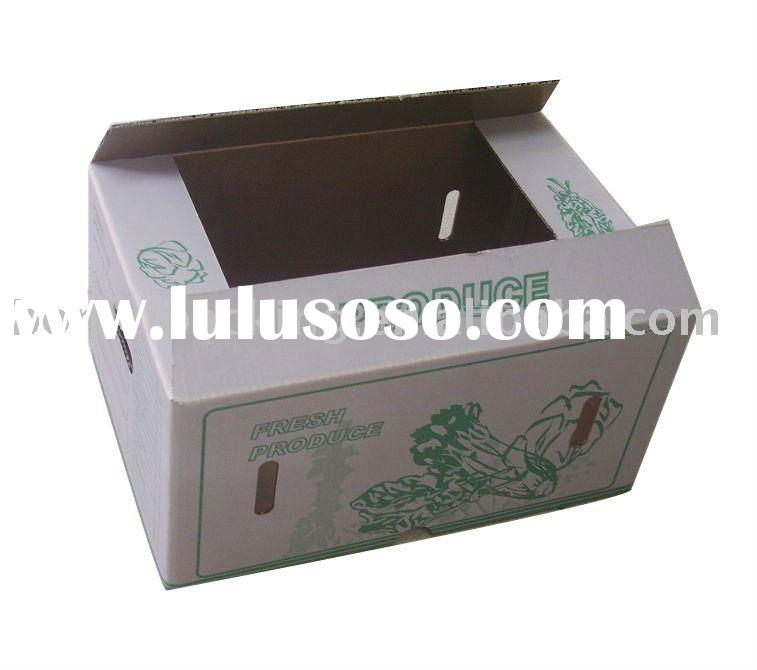 Wax coated vegetable paper box