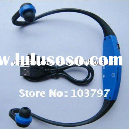 Wholesale Green/Blue/Red/Black Colors Wireless Wrap Around Headphones Digital Sport MP3 Player with