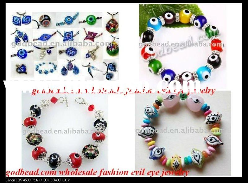Wholesale evil eye beads,lampwork beads,lampwork glass beads,handmade jewelry,turkey blue eye jewelr
