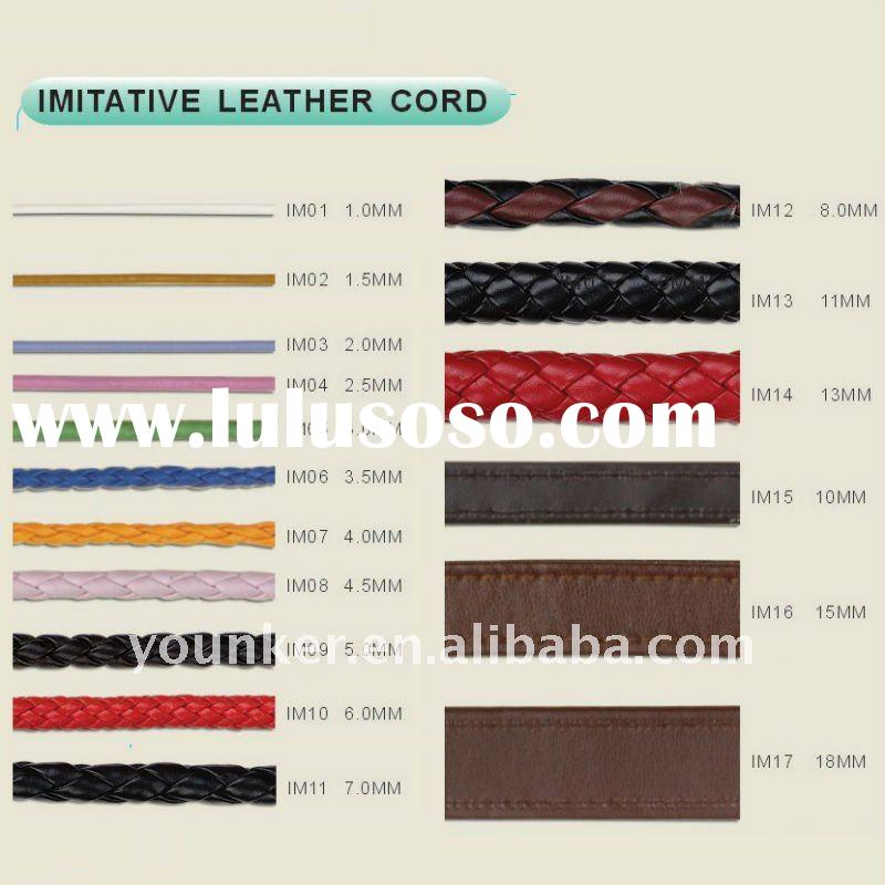 Wholesale jewelry Cord,Flat,Round and Braided Imitative Leather Cord