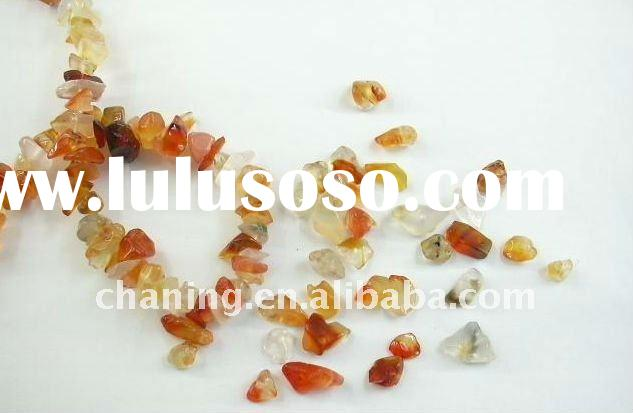 Wholesale natual loose gemstone chips beads/carnelian chips beads
