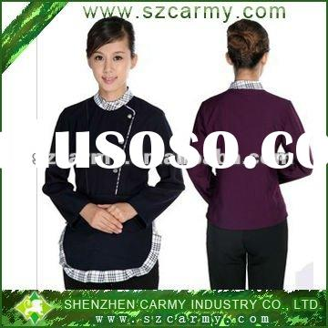 Women's Autumn & Winter Use Hotel Worker's Clothing Housekeeping Staff's