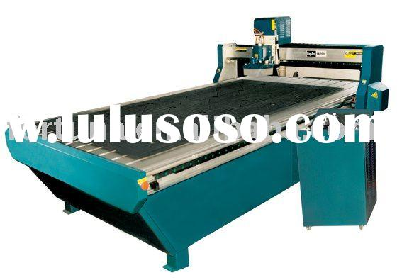 Wood cnc router with vacuum table and dust collection