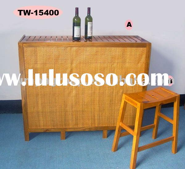 Wooden bar table & stool