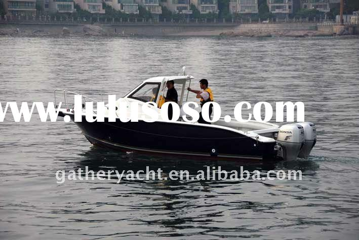 Work vessel or fishing boat---Double motor FRP boat