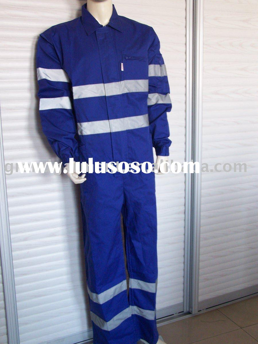 Working Coveralls with reflective tape,EN471.Protective Overalls with reflective tape,Buzo
