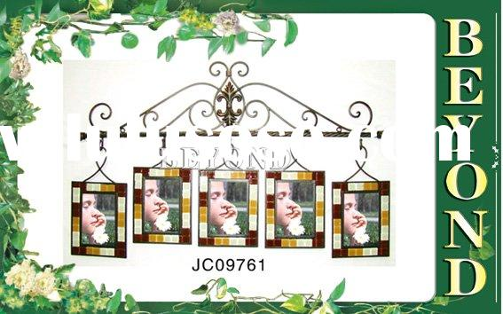 Wrought iron photo frame wall hanging,home decoration