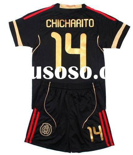 #14 Mexico Kids Away Soccer Jersey 11-12