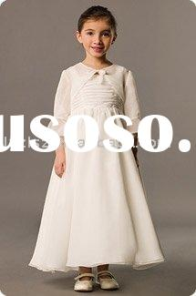 (FG1048) 2011 Suzhou Long sleeves Flower Girl Dress