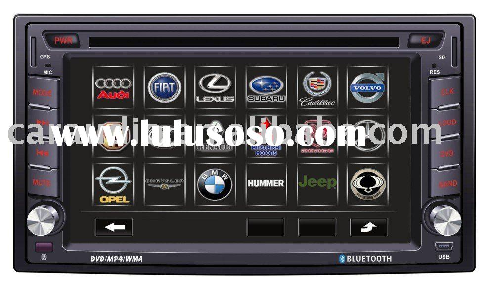 (HOT)double din car dvd player with gps navigation system