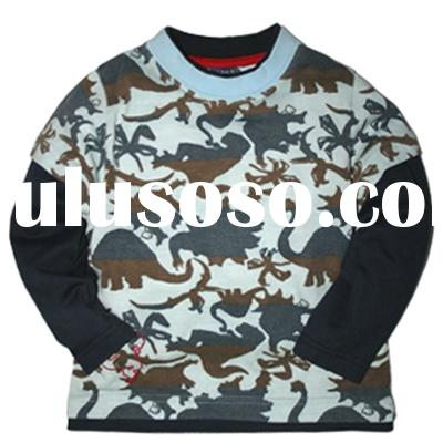 [LEAP]Baby boy's camo print dinosaur long sleeve T-shirt(child garment,child wear)