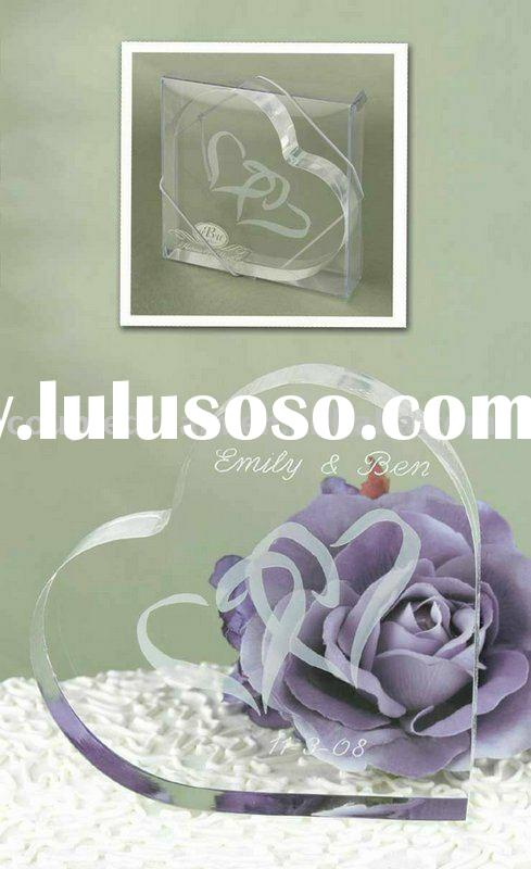 """""""Linked at the Heart"""" Wedding Cake Topper"""