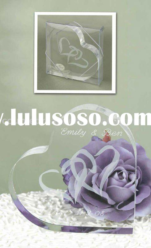 """""""Linked at the Heart"""" Wedding Decoration Cake Topper"""
