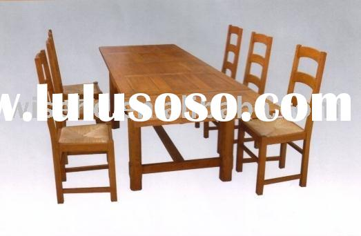 (W-7S-97) solid wood dining room furniture