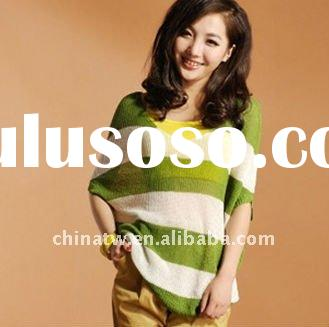 [dg2830]finely deep v neck lady blouse, cotton piercing ladies knitwear,high quality name brand wome