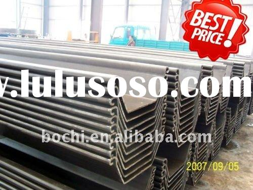 (material cost saving of 25%-200% based on the profile used)Steel Sheet Pile