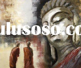 abstract buddha paintings(abstract oil paintings on canvas)