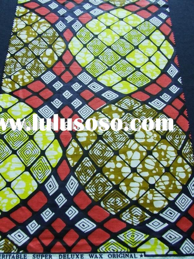 african cotton batik prints cloth/african cotton real wax printed fabric/vlisco wax textile(R7009)