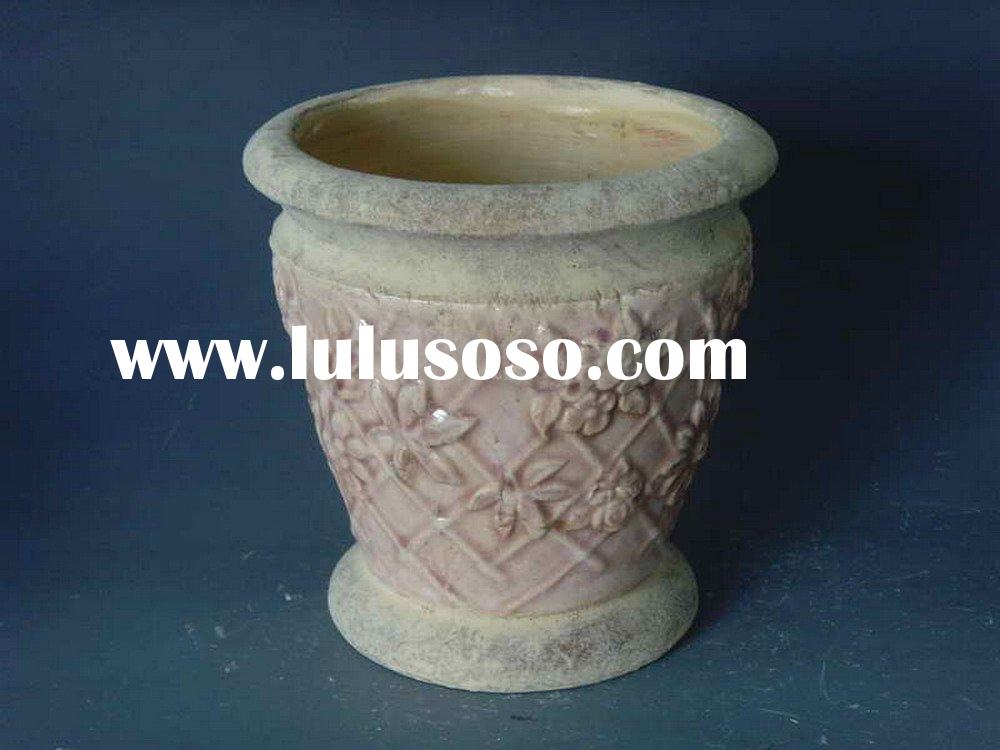 antique glaze terra cotta flower pots planters