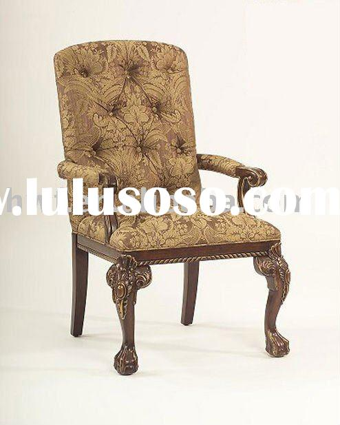 antique wood frame chair
