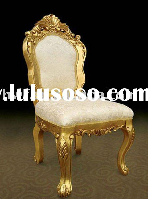 antique wood king chair