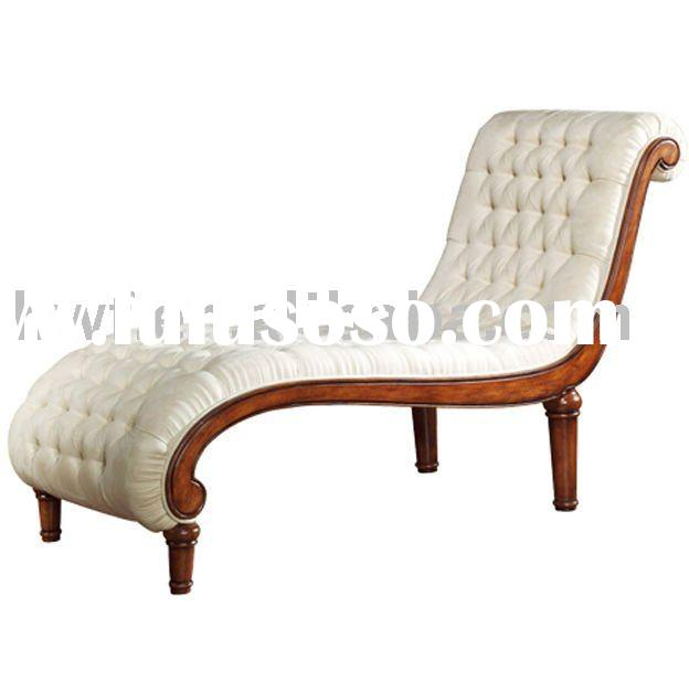 armless curved chaise lounge chair