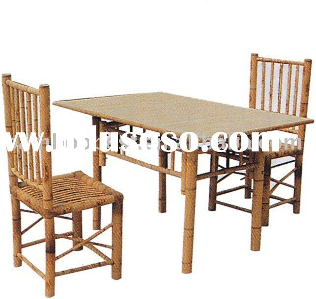 bamboo furniture/table and chair made by raw bamboo material