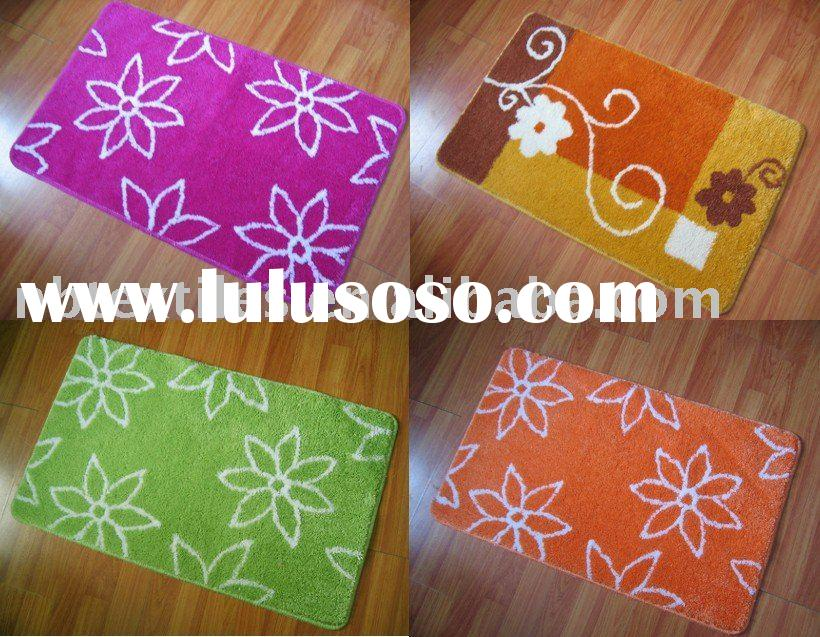 bath mat with rubber backing