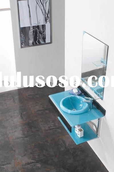 bathroom washing cabinet, glass basin