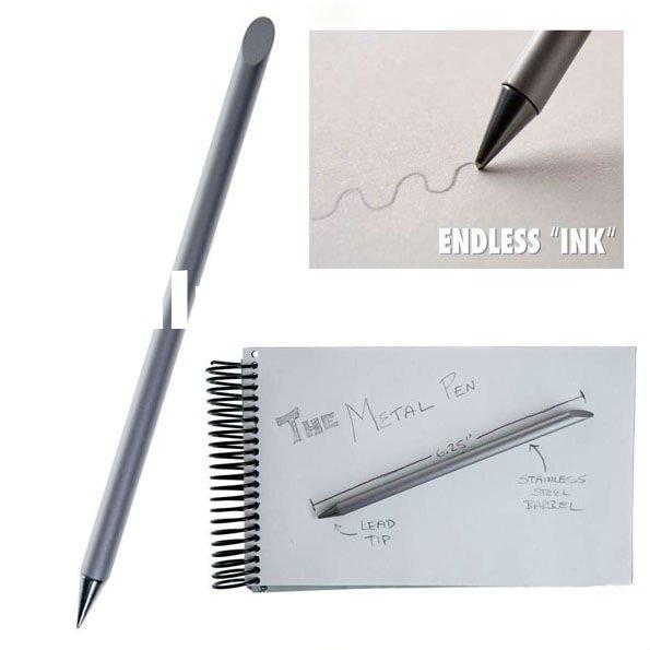 birthday ideas, Inkless Metal Pen / Pen without ink Lead tip never needs to be replaced