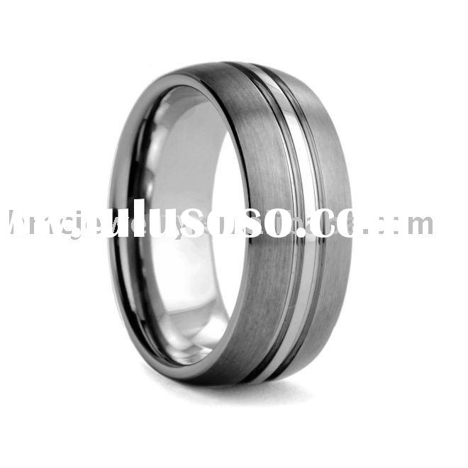 Tungsten Wedding Rings for Women Made in 316L Stainless Steel Casting Style