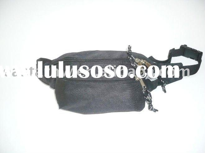 black waist bag for man