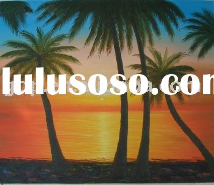 canvas palm tree oil painting