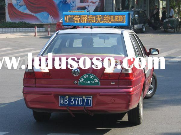 car top advertising products,taxi LED roof display,car,vehicle LED display sign,wireless LED display