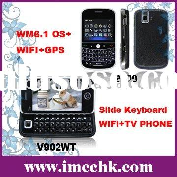 cell phone,Slide Keyboard WIFI+TV PHONE,dual cameras(V902WT)