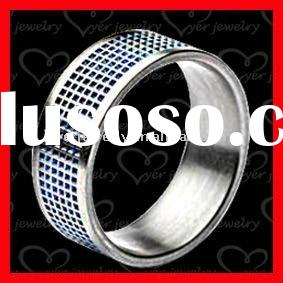 chain stainless steel mens wedding rings