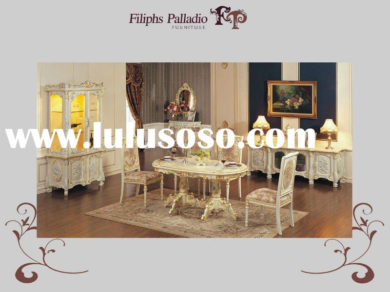 classic italian furniture - hand carved solid wood dining room set