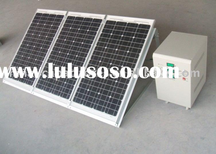 complete solar system for home(solar module,charger controller,inverter,cable,battery and mounting)
