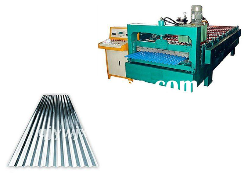 corrugated profile steel roof sheet roll forming machine