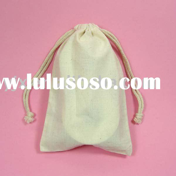 cotton drawstring bag, muslin pouch, packaging pouch