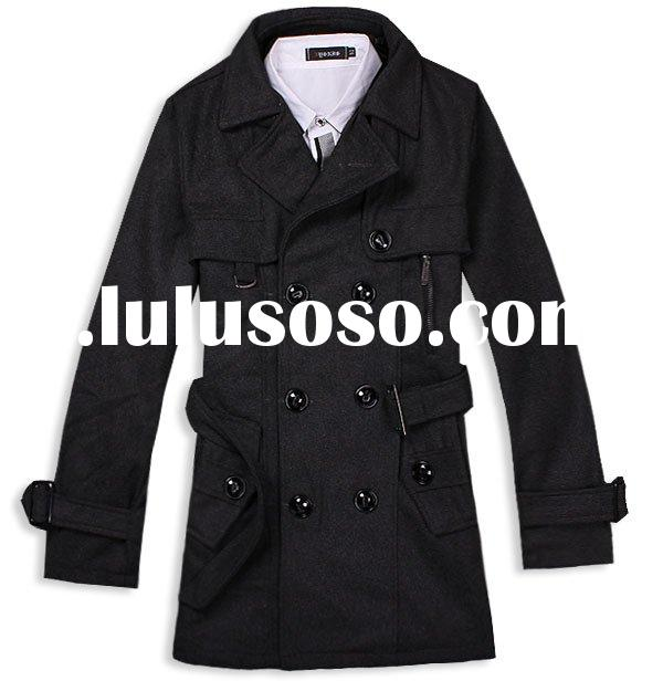 cotton/polyester mens high fashion formal coat