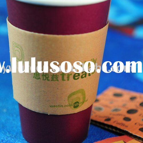custom printed paper cup sleeve for hot coffee,paper cup sleeves