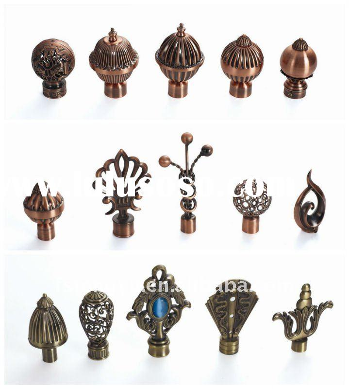 decor wrought iron curtain rod finials/ball,leaf,cage