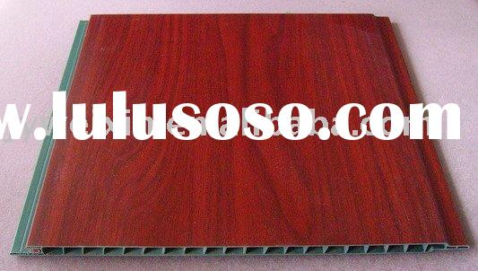 decorative wall panel(red color wood design )