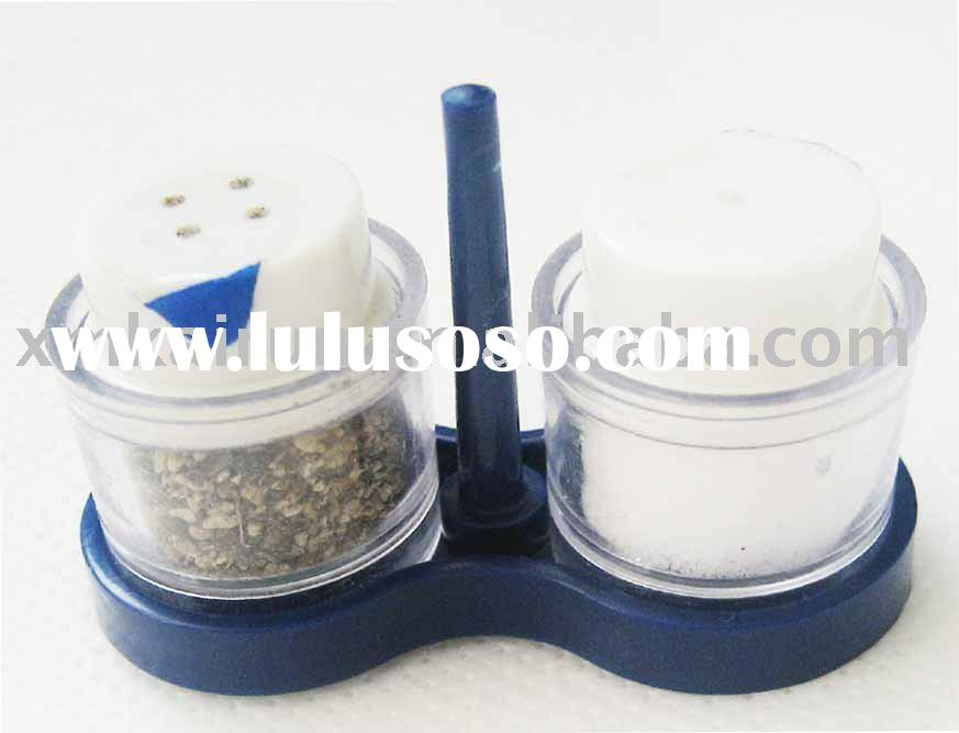 disposable pepper and salt shaker, plastic metallic pepper and salt shaker