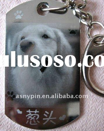 dog tag key chain,name tag key chain,dog tag with key ring