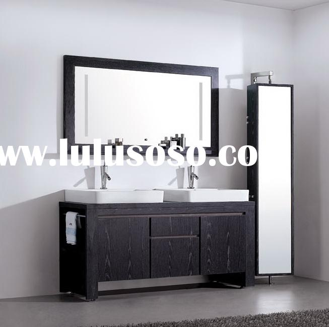 double basin bathroom cabinets V-12022