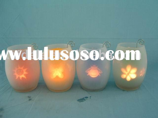 double wall glass candle holder/ home decoration