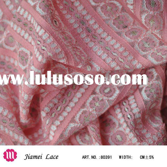 elastic lace fabric 80391